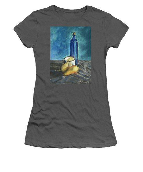 Blue Bottle And Pears Women's T-Shirt (Junior Cut) by Marna Edwards Flavell
