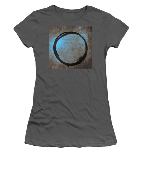 Blue Brown Enso Women's T-Shirt (Athletic Fit)