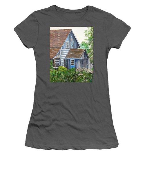 Blue Door Women's T-Shirt (Junior Cut) by Marilyn  McNish