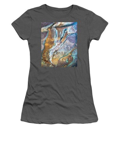 Women's T-Shirt (Junior Cut) featuring the photograph Blue Fantasy, Bhimbetka, 2016 by Hitendra SINKAR