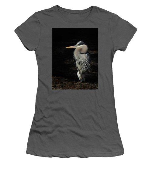 Blue Heron Gaze Women's T-Shirt (Junior Cut) by Deborah Smith