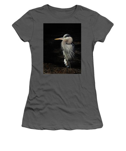 Blue Heron Gaze Women's T-Shirt (Athletic Fit)