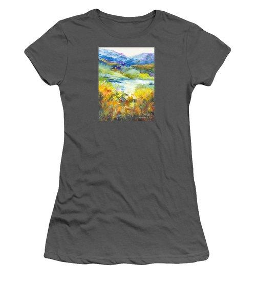 Blue Hills Women's T-Shirt (Junior Cut) by Glory Wood