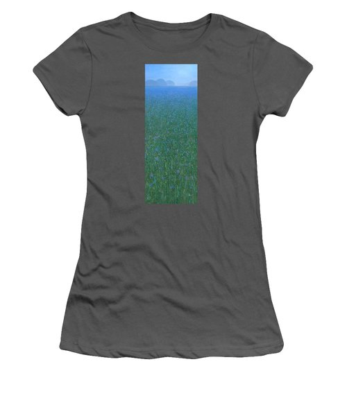 Blue Meadow 2 Women's T-Shirt (Athletic Fit)