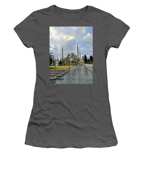 Blue Mosque Women's T-Shirt (Athletic Fit)