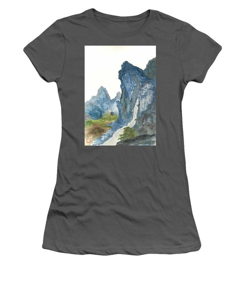Blue Mountain Morning Women's T-Shirt (Athletic Fit)
