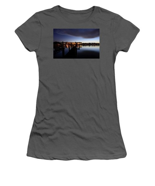 Women's T-Shirt (Athletic Fit) featuring the photograph Blue Night by Laura Fasulo