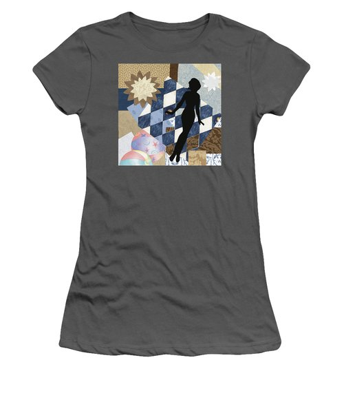 Blue Paper Doll Women's T-Shirt (Athletic Fit)