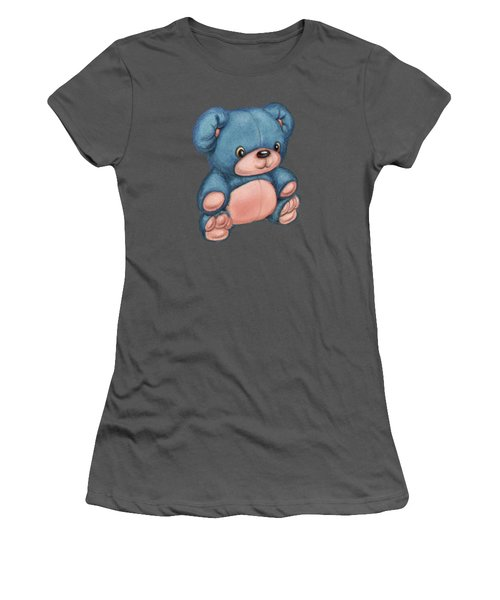 Blue Pink Bear Women's T-Shirt (Junior Cut) by Andy Catling