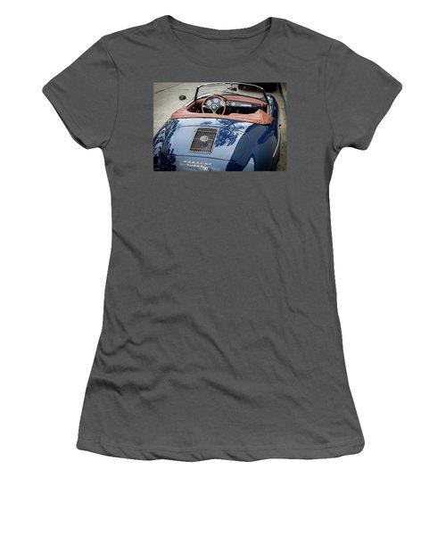 Blue Porche 356 Women's T-Shirt (Athletic Fit)