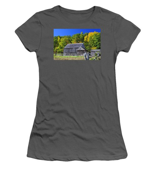 Blue Sky Autumn Barn Women's T-Shirt (Athletic Fit)