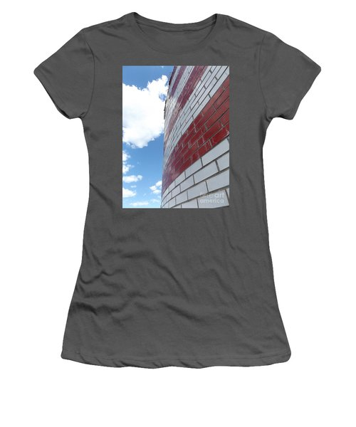 Blue Sky Brick Flag Women's T-Shirt (Junior Cut) by Erick Schmidt