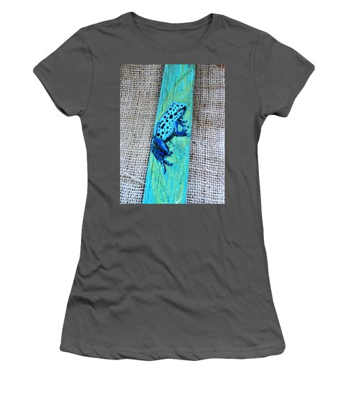 Blue-spotted Tree Frog Women's T-Shirt (Athletic Fit)