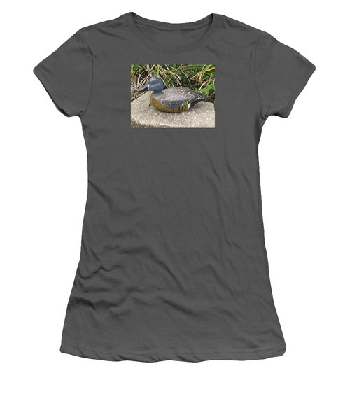 Blue-winged Duck Women's T-Shirt (Junior Cut) by Kevin F Heuman
