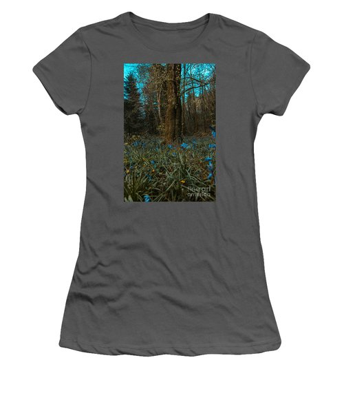 Bluebells In Lismore Forest 2 Women's T-Shirt (Athletic Fit)