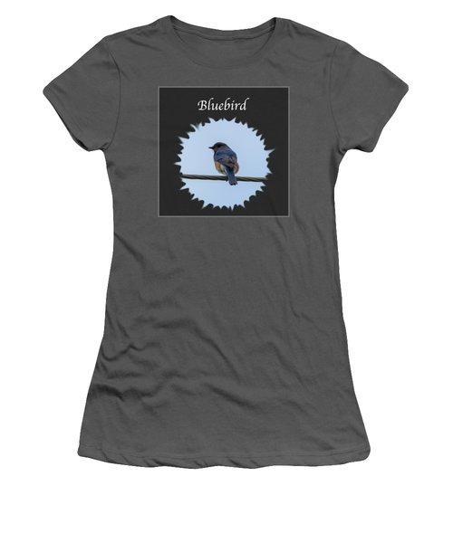 Bluebird Women's T-Shirt (Junior Cut) by Jan M Holden