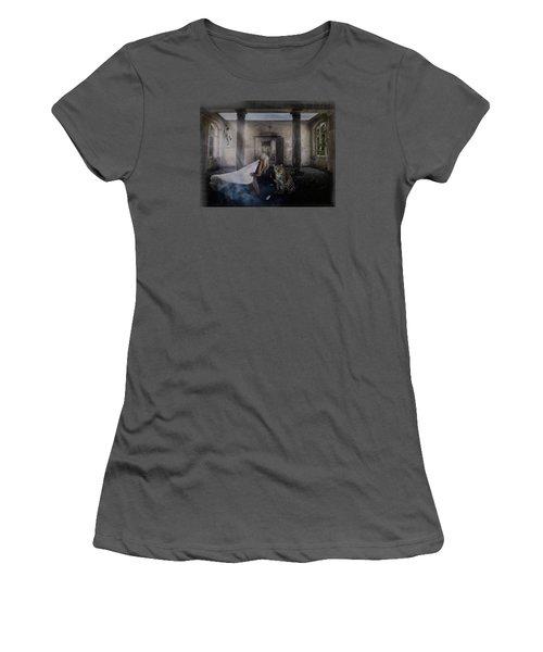 Bluebonnet Hall Women's T-Shirt (Junior Cut) by Terry Fleckney