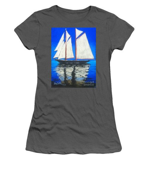 Bluenose 2 Women's T-Shirt (Junior Cut) by Rae  Smith