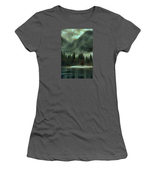 Blustery Yosemite Women's T-Shirt (Junior Cut) by Josephine Buschman