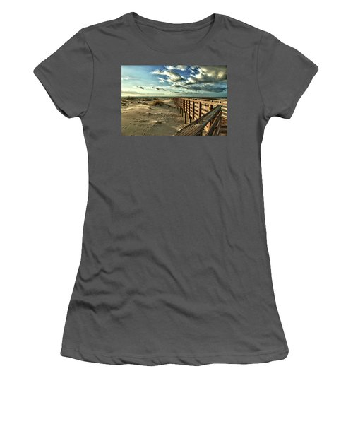 Boardwalk On The Beach Women's T-Shirt (Athletic Fit)