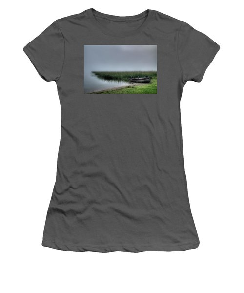Boat In The Fog Women's T-Shirt (Athletic Fit)