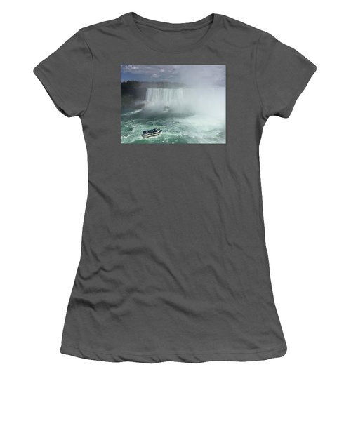 Boat Near Niagara Falls Women's T-Shirt (Athletic Fit)