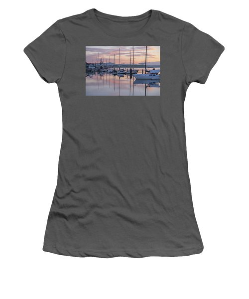 Boats In Pastel Women's T-Shirt (Athletic Fit)