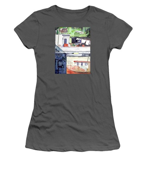 Boats On The Quay Women's T-Shirt (Athletic Fit)