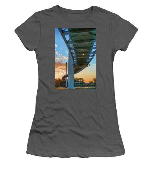 Bob Kerry Bridge At Sunrise-2 Women's T-Shirt (Athletic Fit)