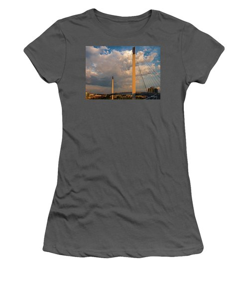 Bob Kerry Bridge At Sunrise-3 Women's T-Shirt (Athletic Fit)