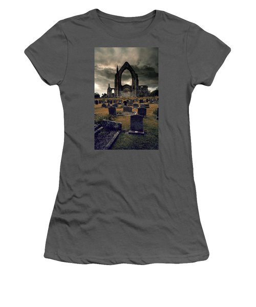 Bolton Abbey In The Stormy Weather Women's T-Shirt (Junior Cut) by Jaroslaw Blaminsky