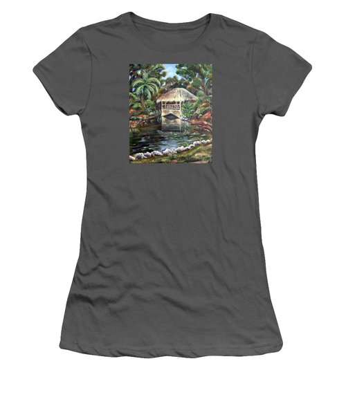 Bonnet House Chickee Women's T-Shirt (Junior Cut) by Patricia Piffath