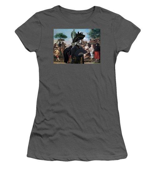 Border Collie Art Canvas Print - The Minuet Women's T-Shirt (Athletic Fit)