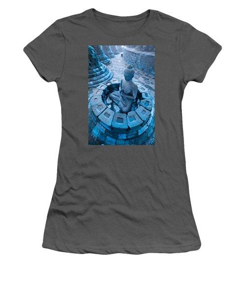 Borobudur Temple Women's T-Shirt (Athletic Fit)