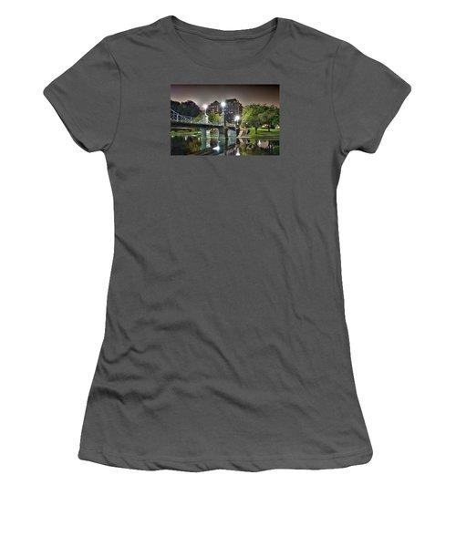 Boston Public Garden Women's T-Shirt (Junior Cut) by Brendan Reals