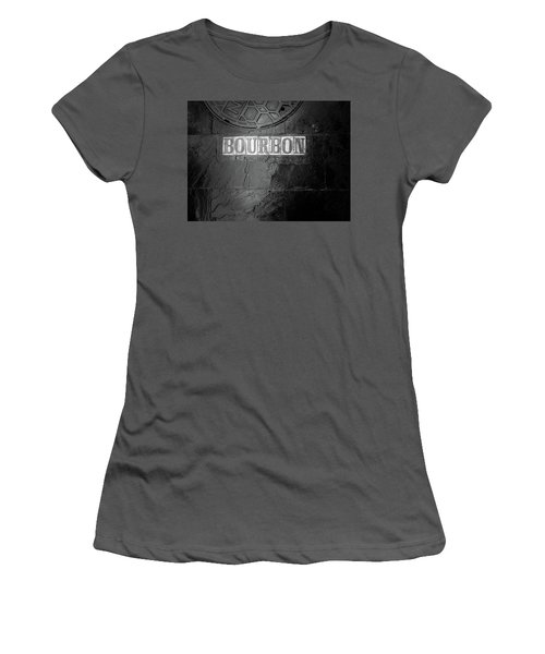 Bourbon In Black And White Women's T-Shirt (Athletic Fit)