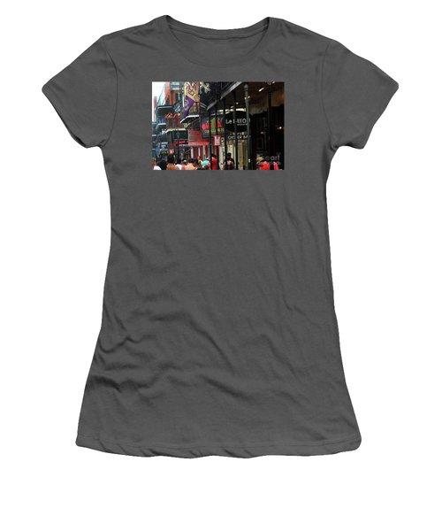 Bourbon Street Women's T-Shirt (Junior Cut) by Steven Spak