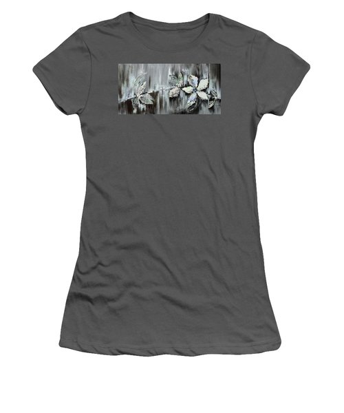 Women's T-Shirt (Junior Cut) featuring the painting Branches Of Fun by Joanne Smoley