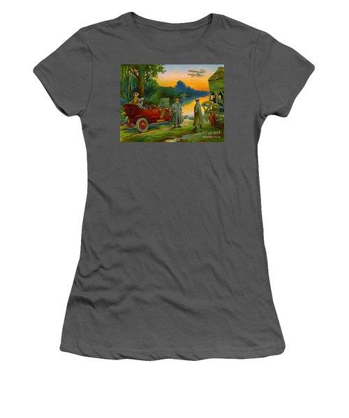 Brave New World 1910 Women's T-Shirt (Junior Cut) by Padre Art