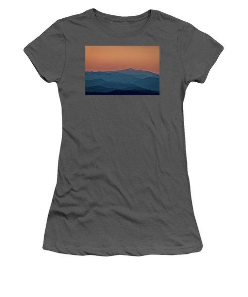 Women's T-Shirt (Athletic Fit) featuring the photograph Brda Dusk - Slovenia by Stuart Litoff