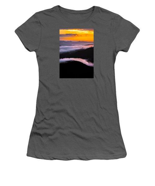 Breatthtaking Blue Ridge Sunrise Women's T-Shirt (Athletic Fit)