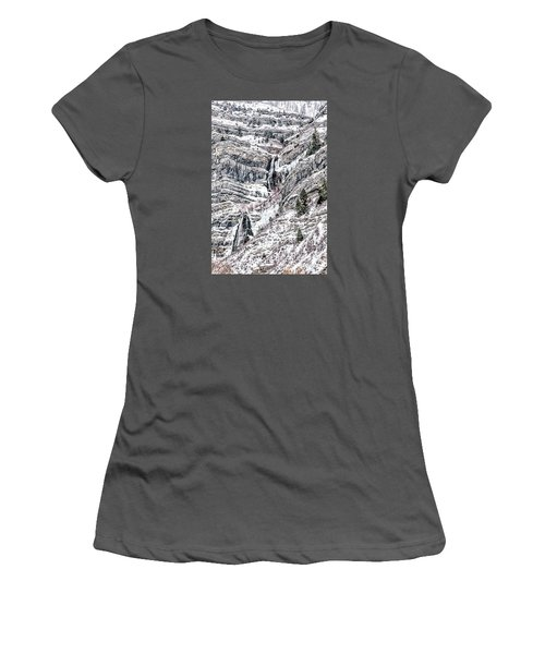 Bridal Veil Falls Women's T-Shirt (Athletic Fit)