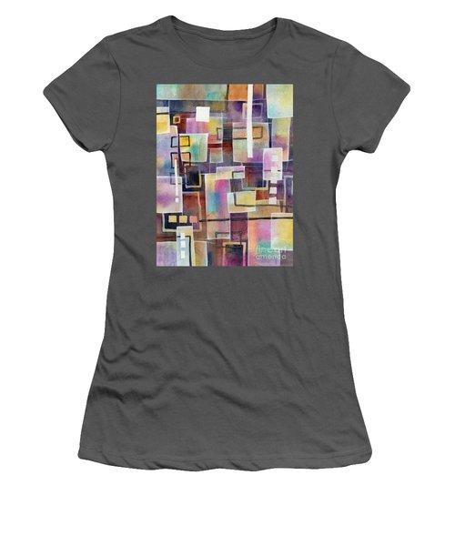 Women's T-Shirt (Junior Cut) featuring the painting Bridging Gaps by Hailey E Herrera