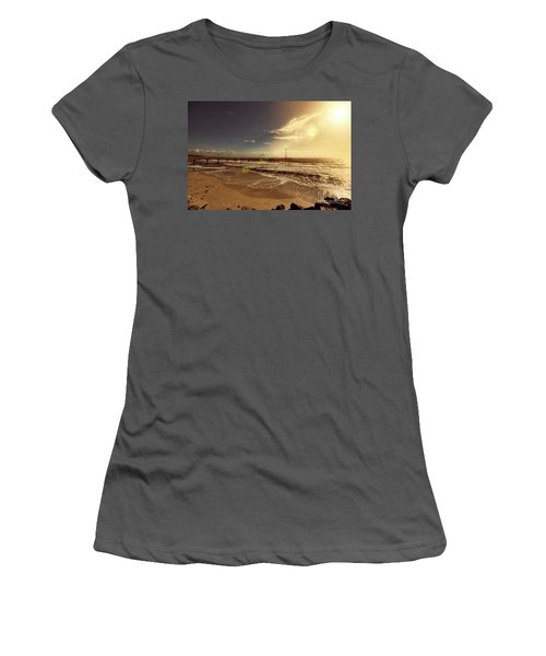 Brighton Beach Pier Women's T-Shirt (Junior Cut) by Douglas Barnard