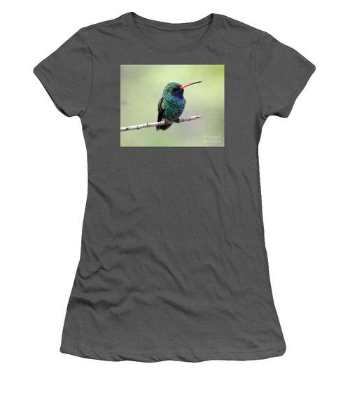 Broad-billed Hummingbird Portrait Women's T-Shirt (Athletic Fit)