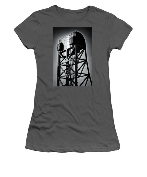 Broadway Bridge South Tower Detail 1 Monochrome Women's T-Shirt (Athletic Fit)