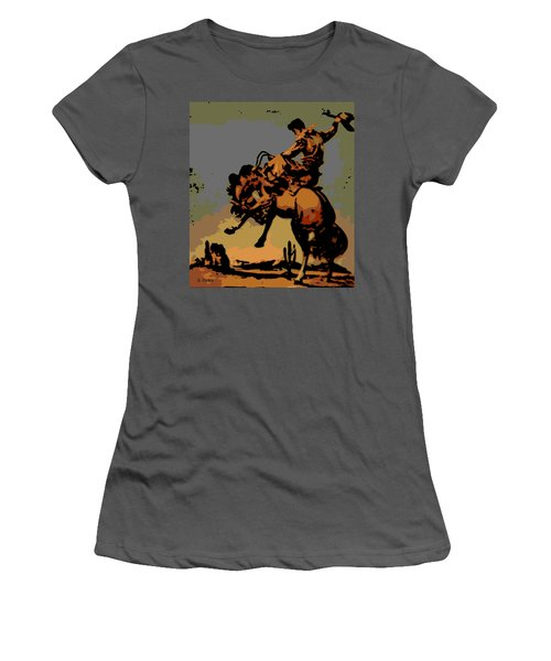 Bronc Rider Women's T-Shirt (Athletic Fit)