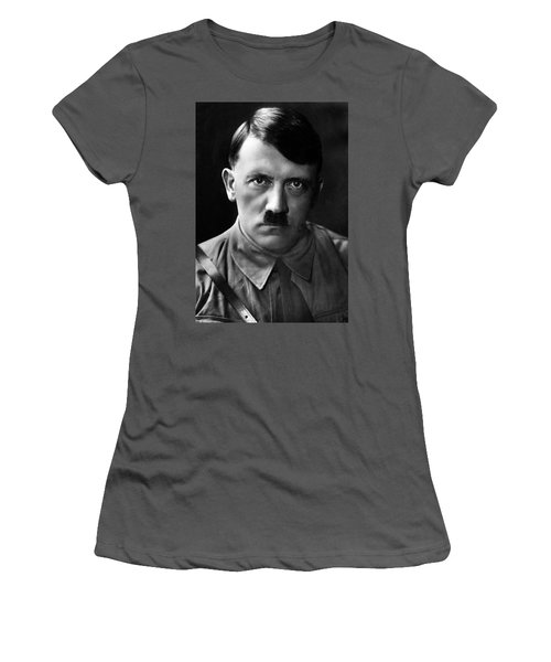 Brooding Portrait Of Adolf Hitler Heinrich Hoffman Photo Circa 1935 Women's T-Shirt (Athletic Fit)