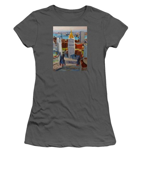 Brooklyn And East River Bridges From Foley Square Women's T-Shirt (Athletic Fit)