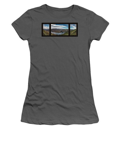 Women's T-Shirt (Junior Cut) featuring the photograph Brownlee Triptych by Leland D Howard
